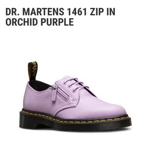 Dr. Martens | 1461 Zip In Orchid Lilac Purple Low Top Moto Shoes